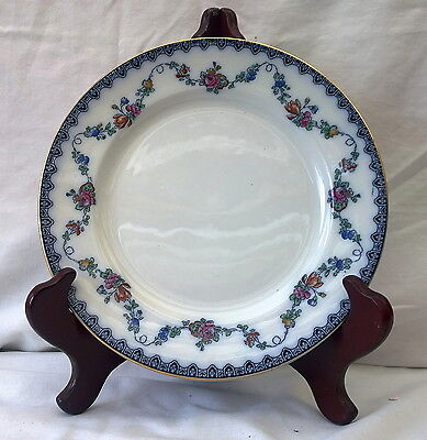 Six Antique Keeling & Co Losol Ware Bristol Tea Plates Flow Blue And Roses