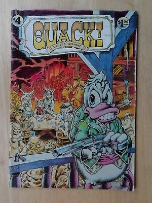 QUACK #4 - Alternative Underground - Rare 1st Print - 1977