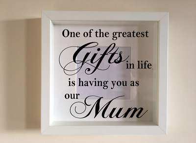 IKEA RIBBA Box Frame Personalised Vinyl Wall Art Quote One of the greatest gifts