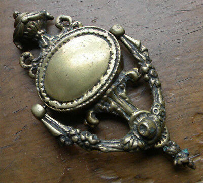 "Large Vintage Solid Brass Door Knocker Ornate Roman Greek Style 10 1/4"" Tall"