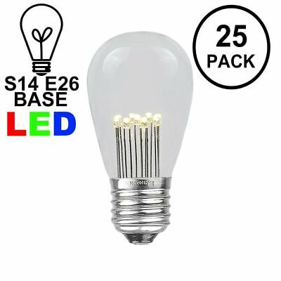 25 Pack LED S14 Outdoor Patio Edison Replacement Bulbs, Warm White, E26 Base