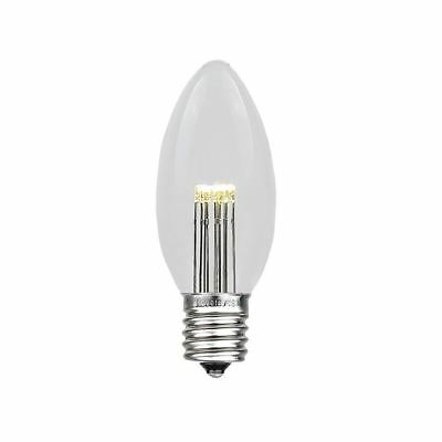 25 Pack C9 LED Outdoor Christmas Replacement Bulbs, Warm White, C9/E17 Base