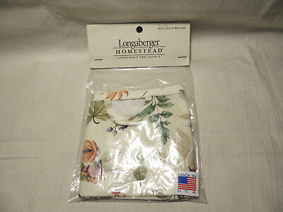 LONGABERGER FABRIC LINER for 2008 Lg Woven Memories Tour Basket Botanical Fields