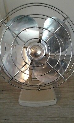 "Vintage Retro SEARS KENMORE 10"" FAN - Four Blades - One Speed"