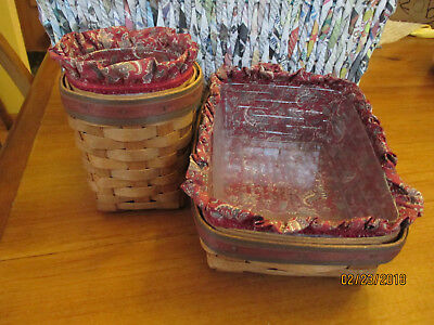 PENCIL & PAPER Basket Combo 1992 LONGABERGER FATHER'S DAY Protector Liner Card
