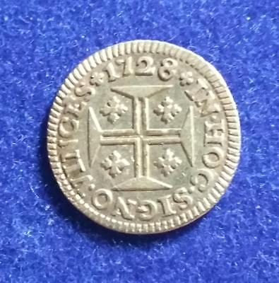 PORTUGAL - 1728 GOLD 400 Reis - old cleaning - VF-XF - 1.02 grams - 14.4 mm