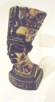 Egyptian Queen Nefertiti Pharaoh Wife Figurine Bust Statue Made in Egypt