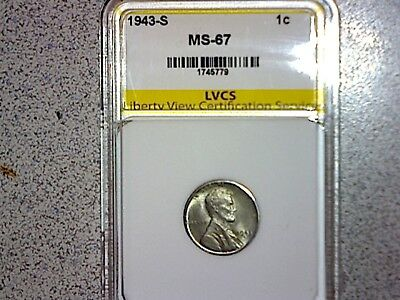 1943-S Lincoln penny MS-67