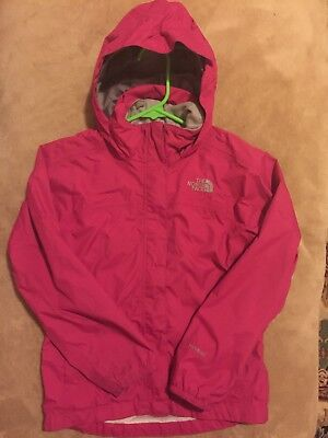Girls Pink The North Face Hyvent Jacket With Hood Size 7/8