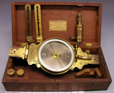 ~ Mid 19th c American Surveying Compass, Complete ~