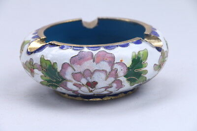Exquisite Chinese carving flower cloisonné Incense burner aa916