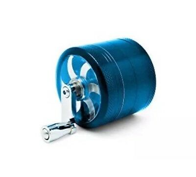 "Herb Grinder Crusher for Tobacco 4 Piece 2"" Metal Hand Muller Spice Blue"