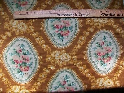 "Antique / old vintage 19th century cotton; 6 panels of 24.5"" x 80"" total 12+ yds"