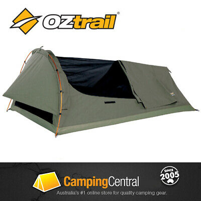 OZTRAIL SWAG STURT EXPEDITION (DOUBLE 125x200cm) CANVAS DOME SWAG TENT