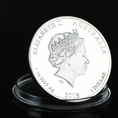 2018 Year of the Dog Perth Mint Lunar Series | 1 oz Silver Coin with Metal Case!