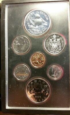 1979 Canada double Dollar 7 coin proof set with Silver Dollar. Royal Canadian M