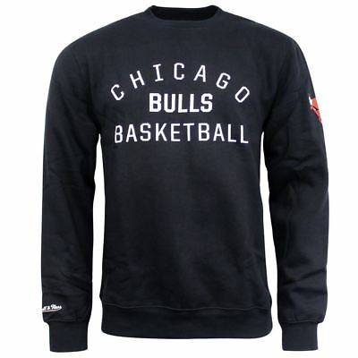 Mitchell & Ness Team Issued Crew Chicago Pulls Mens Black Pullover Sweater CC56