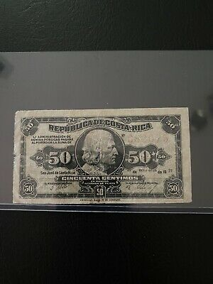 World Paper Money - Costa Rica 50 centavos 1921