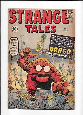 Strange Tales #90 ==> Gd Orrgo The Unconquerable Marvel Pre-Hero 1961