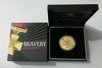 Royal Australian Mint 2015 Bravery $5 Gold Plated 1oz Silver Uncirculated Coin
