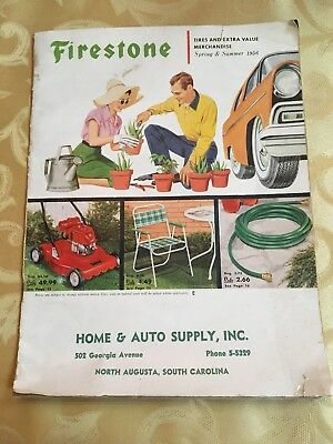 1956 Firestone Tires And Extra Value Merchandise Catalog (North Augusta, Sc)