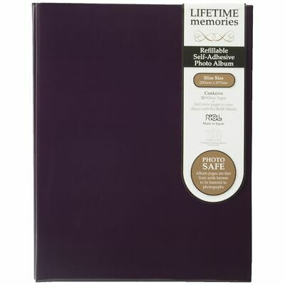 NCL 20 Page Refillable Self-adhesive Photo Album Purple