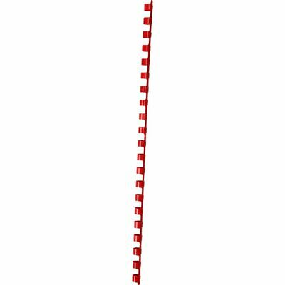 GBC Binding Comb 21 Loop Plastic 8mm Red 100 Pack
