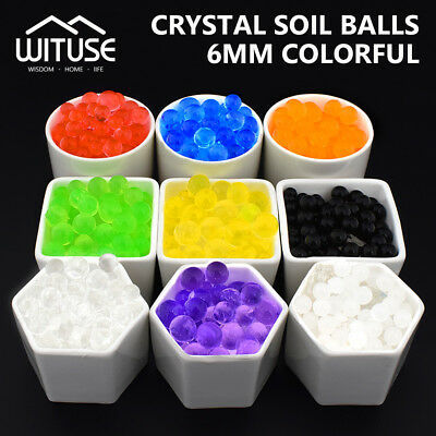 5000-20000Pcs Water Balls Growing Crystal Soil Water Beads Colorful Hydrogel 6D