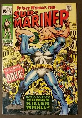 Sub-Mariner 23 Vf+ 1St Appearance Of Orka The Human Killer Whale