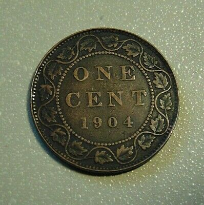 1904 CANADA LARGE CENT one 1 penny copper coin Edward VII