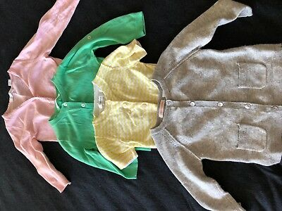 Country Road Baby Girls Cardigan Bundle 6-12mths - 4 x Gorgeous Summer Cardigans