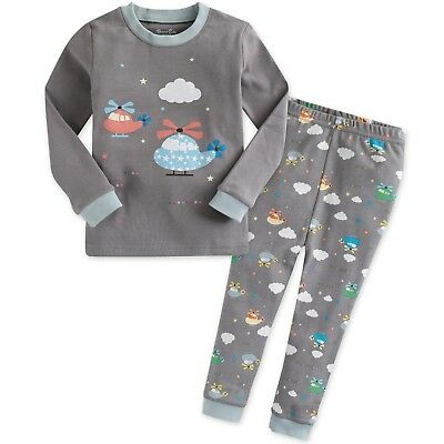 "Vaenait Baby Clothes Toddler Boys Kids Pajama Set""Healing Copter"" S(2T)"