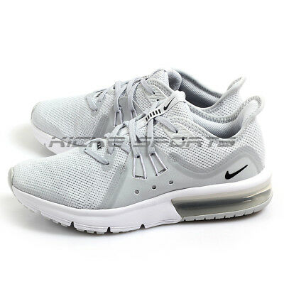 timeless design ae93b 9d09f Nike Air Max Sequent 3 (GS) Running Shoes Pure Platinum Black-White