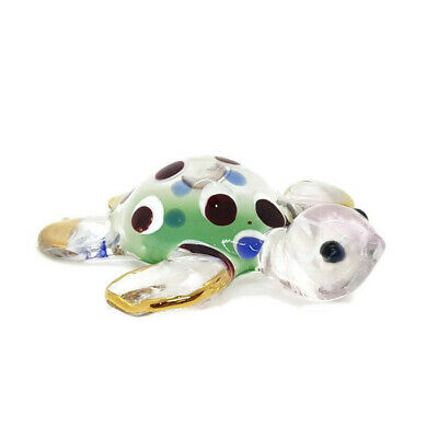 TURTLE Hand Color Blown Blowing Glass Art Animal Cute Fancy Collectible gift 2