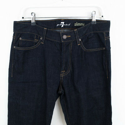 7 FOR ALL MANKIND - Mens Size 32 x 30 Slim Straight Slim Jeans RRP $260 As New
