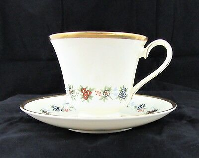 Minton Mirabeau Bone China Footed Cup and Saucer