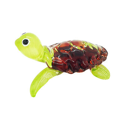 Turtle Hand Blown Blowing Glass Art Sea Animal Fancy Collectibles Gift Decor 3