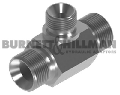 """BSP Male Tee for Bonded Seal 1"""" x 1"""" x 3/8"""" Reducing branch"""