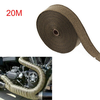 20M Titanium Exhaust Heat Wrap Manifold Downpipe High Temp Bandage Tape Roll