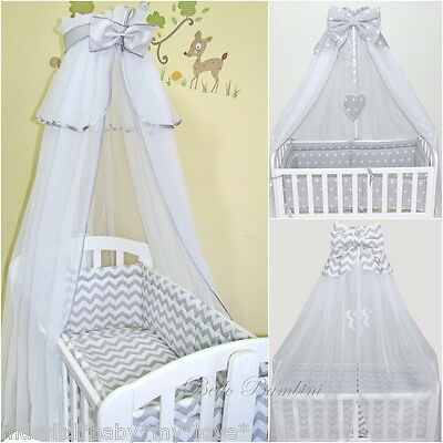 CANOPY drape-to fit baby swinging crib/wicker basket/cradle 300cm wide! + HOLDER