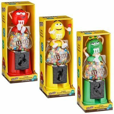 """M&M's Chocolate Candy Dispenser 12"""" - Red / Yellow / Green kids Easter Gift"""