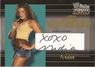 "WWE Divine Divas - RARE With Love ""Nidia"" Autograph Card #080/100"