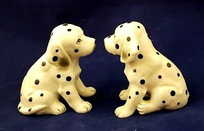 Two Hand Painted Ceramic Dalmatian Dogs Up For Adoption - Excellent Condition