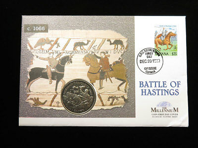 Battle of Hastings The Millennium Coin First Day Cover (Isle of Man)