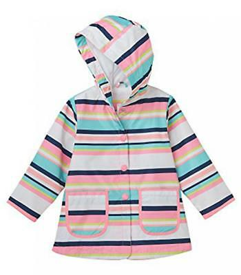 Carter's Girls' Multi Striped Rain Jacket Size 4 5/6 7/8 $44