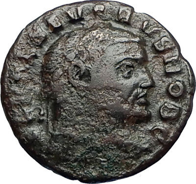 SEVERUS II 305AD Rare Quarter Follis Authentic Ancient Roman Coin GENIUS i67370