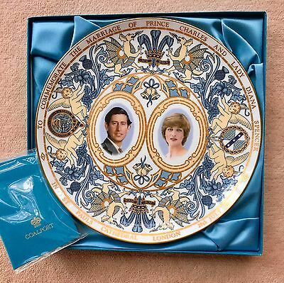 COALPORT PLATE  Commemorating The Marriage of Prince Charles and Princess Diana