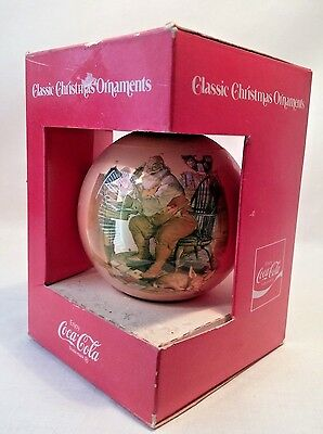 Coca Cola Christmas Ball Ornament  Haddom Sundblom's 1963 Santa reading note fro