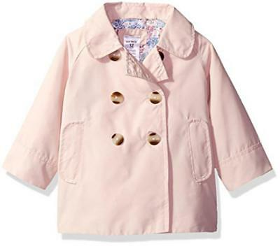 Carter's Big Girls' Pink Trench Jacket Size 4 5/6 7/8 $44