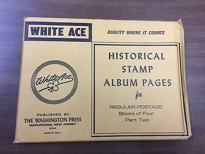 WHITE ACE U.S. Regular Postage Blocks of Four Pages Part 2 From 1971-1990, NEW!!
